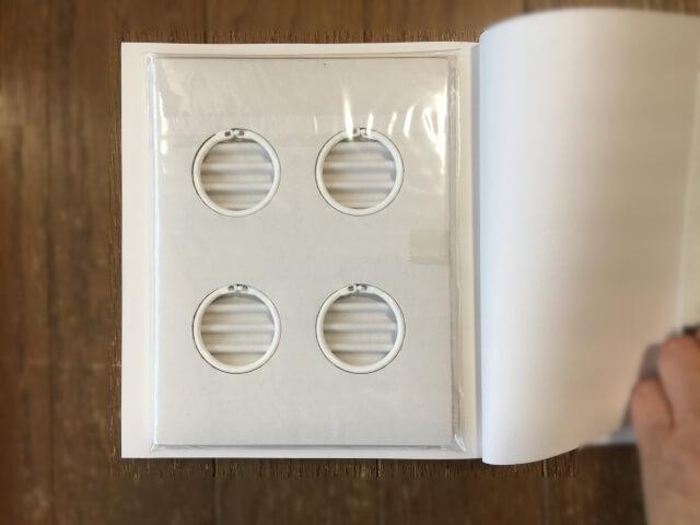 漢字暗記カードのリング