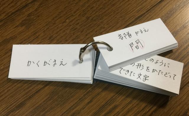 漢字の暗記カード