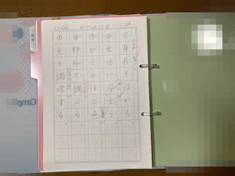解き直しノート 国語